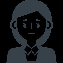 女性社員 事務員の無料アイコン素材 商用可の無料 フリー のアイコン素材をダウンロードできるサイト Icon Rainbow